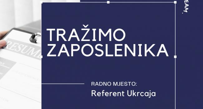 TRAŽIMO ZAPOSLENIKA!